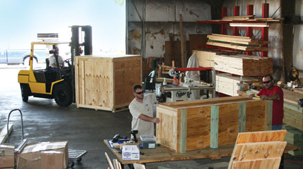 Custom crating at our 6,500 square-foot facility